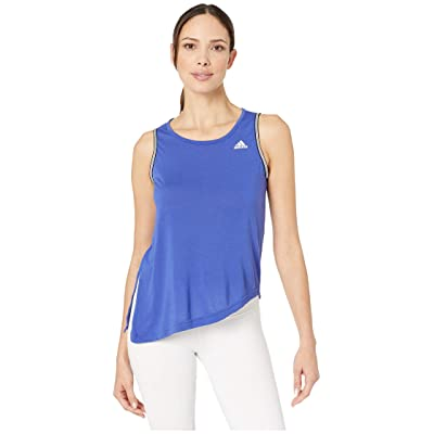 adidas All Me Novelty Bra Tank (Active Blue/White) Women