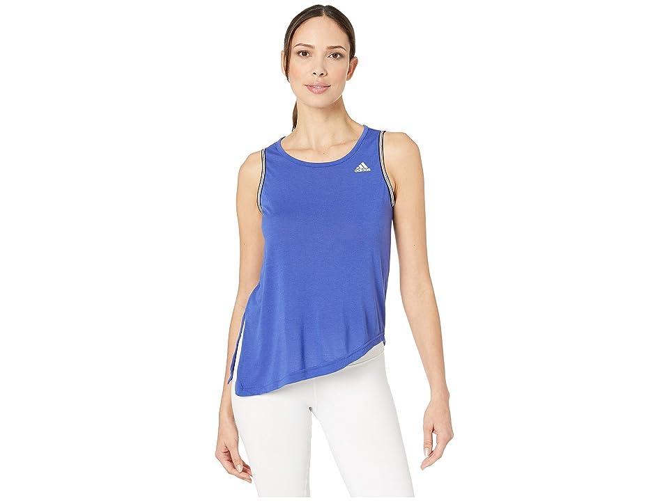 adidas All Me Novelty Bra Tank (Active Blue/White) Women