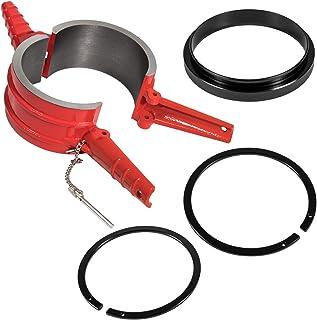 "7040 Piston Ring Compressor Tool+Adapter+Anti-Polishing Ring For Cummins ISX/QSX, Caterpillar 3400, C-15 5.4"" bore Alternative PT-7040 5299448 5299447 5299339 (4 PCS)"
