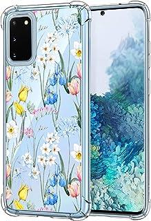Oihxse beschermhoes voor Samsung Galaxy A40, zacht, TPU-siliconen, schokbestendig, krasbestendig, bloemenmotief, B11