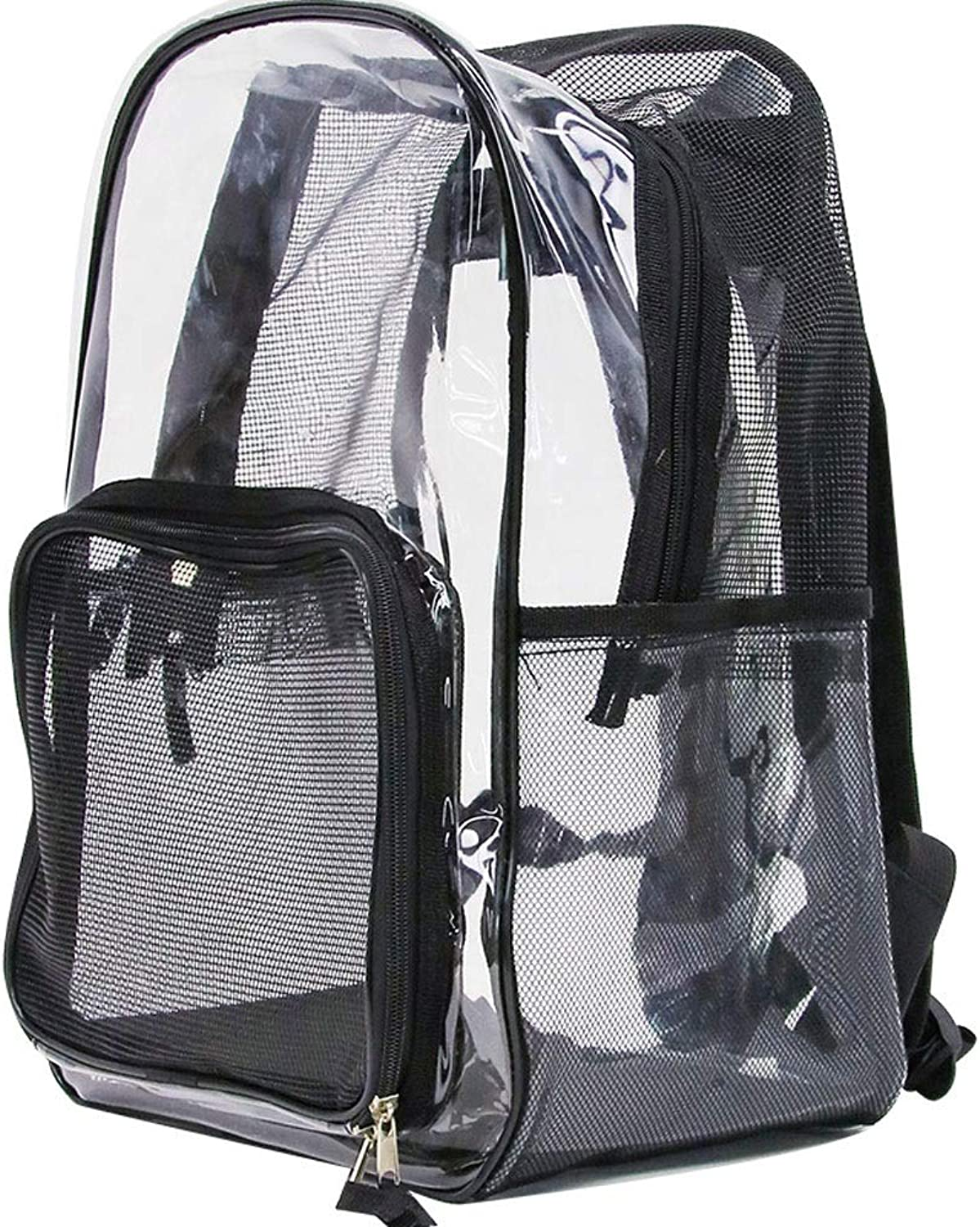 Alapet Oxford Black Transparent Pet Backpack, Transparent Bag Body Widening The Field of View, The Breathable Mesh is Comfortable and Not Stuffy, Suitable for Pets Up to 5 kg,Durable