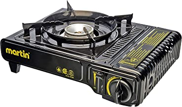 Martin Outdoor Heavy Duty Portable Butane Stove Burner 8000 BTU