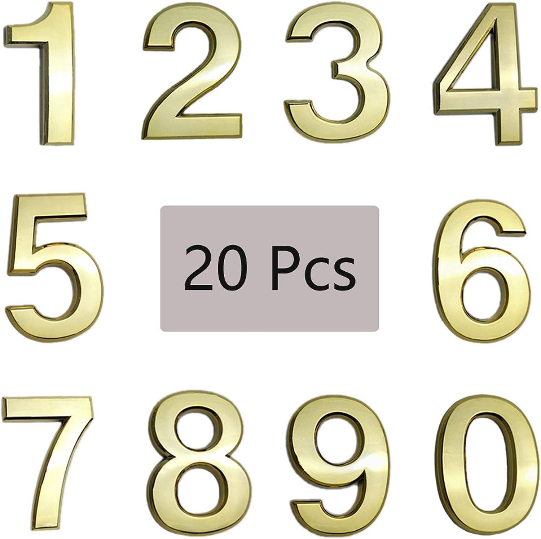 20 Ranking TOP9 Pcs 3D Mailbox Numbers 0-9 2 Selling rankings Inch House Adhesive Self Door
