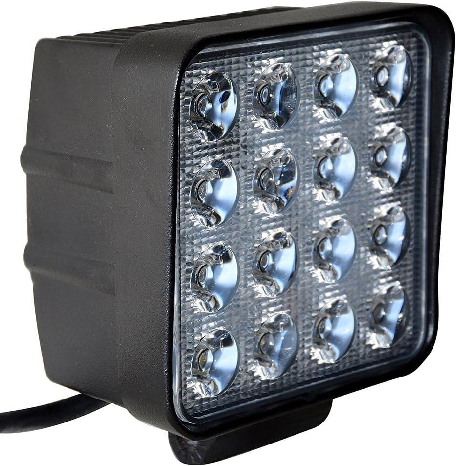 Leetop 10x18W Autoscheinwerfer LED Scheinwerfer Arbeitsscheinwerfer Offroad Zusatzscheinwerfer Auto DRL Working Lamp Spotlight Headlamp Black Die Cast Aluminium IP67 10x48W