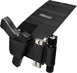 FIREDOG Bedside Holster, Bed Gun Holster for Mattress Car Desk Home Office,Fits for Glock 17 22 S&W Etc Different Handgun Holster