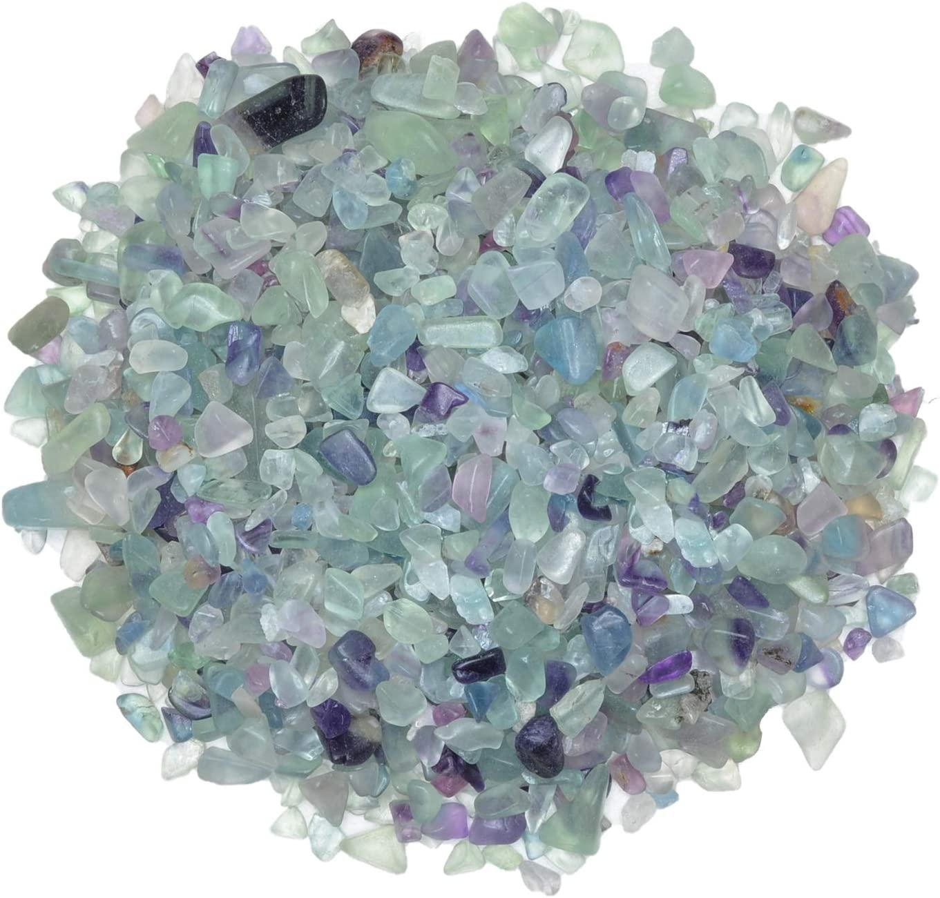 Hypnotic Excellence Elegant Gems: 18 lbs of Natural Rainbow Polished Rock Fluorite