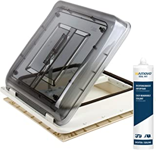 Fiamma Dachfenster Vent 40x40cm Klar mit Rollo | 1x Dichtmittel | 25x Schrauben