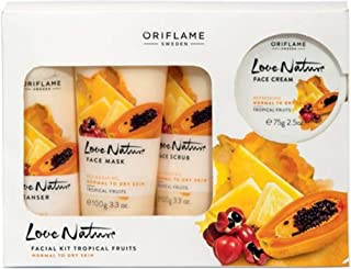 PLANET 007 Oriflame Sweden Love Nature Facial kit Tropical Fruits Normal to Dry Skin