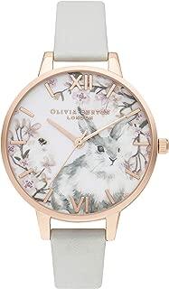 Olivia Burton Women's Quartz Pretty Blossom analog Display and Leather Strap, OB16WL72