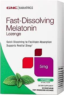 GNC Bariatrics Fast-Dissolving Melatonin Lozenge, Peppermint, 60 Capsules, Supports Restful Sleep