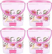 Kuber Industries Exclusive 4 Pcs Virgin Plastic Big Size Dustbin/Garbage Bin (Pink) KSKTC1966