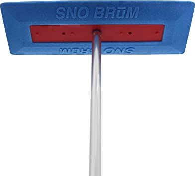 SnoBum – Snow Remover for Cars and Trucks – 28 to 48 Inch Snow Brush with Foam Head and Compact 3 Piece Handle – Made in The USA, Push-Broom Design – No-Scratch Snow Removal – 1 Pack: image