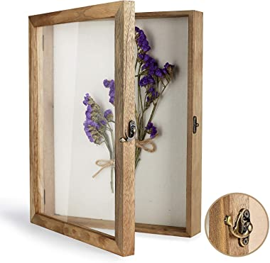 """TJ.MOREE Shadow Box Display Case 11"""" x 14"""" Shadowbox Frame with Linen Back Memorabilia Bouquet Medals Photos Memory Box for K"""