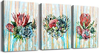 modern Green leaves plants Canvas wall art for bedroom bathroom wall decor Watercolor painting Framed posters Canvas Print...