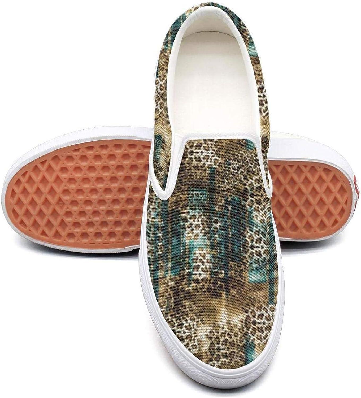 VXCVF Leopard Cheetah Print Gradient bluee Women's Tennis shoes Cute shoefor Womens