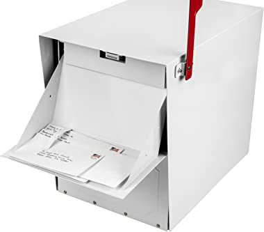 Architectural Mailboxes Oasis Classic Large High Security Parcel Mailbox, White