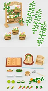2 Outdoor Sets – Flower and Ivy Set and Vegetable Garden Set (Japan Import)