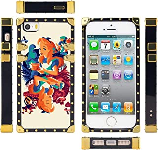 DISNEY COLLECTION Cover Case Compatible for iPhone 5, 5S, SE (5.5in) Nice World Alice in Wonderland