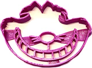 CHESHIRE CAT ALICE ADVENTURES IN WONDERLAND PURPLE FICTION CHARACTER MISCHIEVOUS GRIN FANTASY GARDEN PARTY CARTOON MOVIE FILM SPECIAL OCCASION COOKIE CUTTER BAKING TOOL 3D PRINTED MADE IN USA PR2345