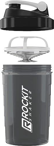 Rockitz Premium Shaker Proteines 500ml - fonction de mélange premium avec filtre à infusion - pour des shakes protéin...