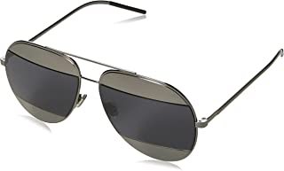 Womens Split 59Mm Metal Aviator Sunglasses