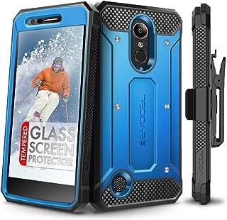 LG K20 Plus Case, Evocel [Explorer Series] with Free [LG K20 Plus Glass Screen Protector] Premium Full Body Case [Slim Profile][Rugged Belt Clip Holster] for LG K20 Plus / K20 V/LG Harmony, Blue