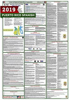 2019 (SPANISH) Puerto Rico State and Federal Labor Law Posters - Laminated 24