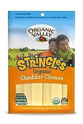 Organic Valley, Organic Cheddar Cheese Stringles - 6 oz Packet