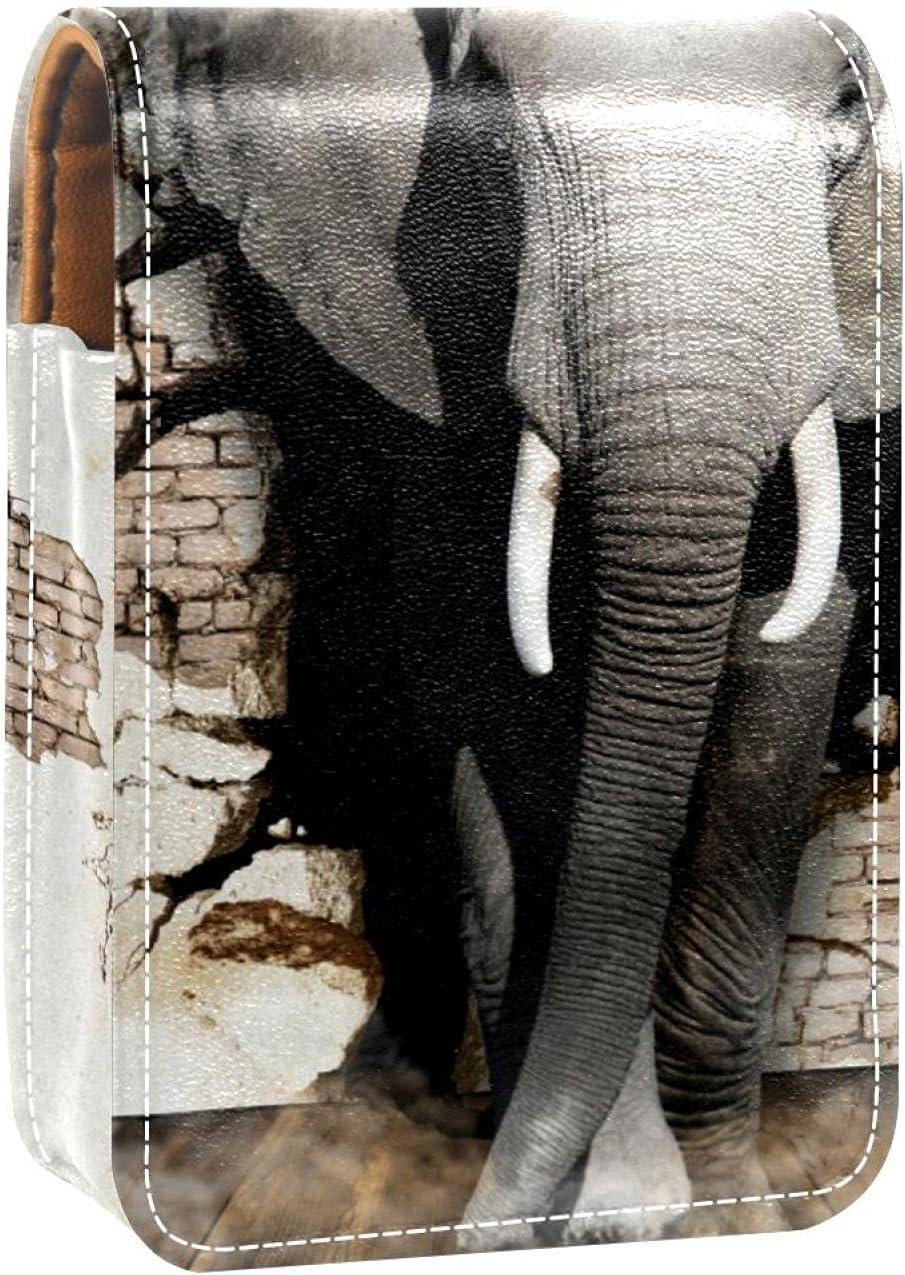 Makeup Lipstick Case Superior For Outside Fashionable Animal Lipsti Elephant Portable