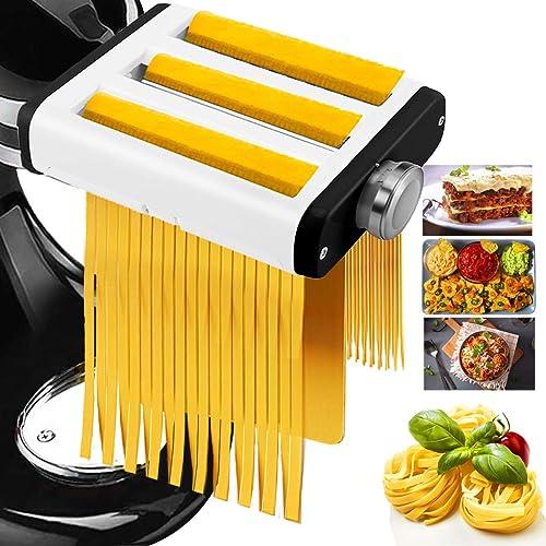 3 In 1 Pasta Maker Attachment for Kitchenaid Mixer, Professional Pasta Attachment Includes Pasta Dough Roller, Spaghe...