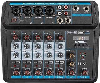 Depusheng U6 Sound Mixing Console Bluetooth USB Opname Computer Afspelen 48V Fantoomvoeding Vertraging Herhaaleffect 6 Kan...