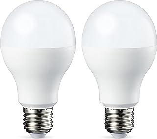 Amazon Basics Bombilla LED Esférica E27, 14W (equivalente a 100W), Blanco Frío - 2 unidades