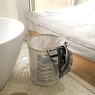 THMINS Laundry Basket, 40×50cm Large Collapsible Drawstring Clothes Hamper (white)