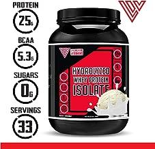 Keto Protein 100% Grass Fed Hydrolyzed Whey Protein Powder ISO 100, 2.2 lbs, Gourmet Vanilla, Non-GMO Hydrolysate, Keto Friendly, Paleo Friendly, Zero Sugar, Pure Protein (2.2 lb, Vanilla)