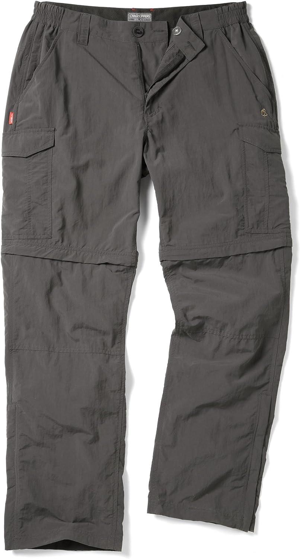 RRP £70 Craghoppers Men's Nosilife Convertible Zip Off Lightweight Trousers