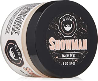 GIBS Grooming Showman Hair Styling Water Wax for Men- Light-Medium Hold – Super High Shine, Product For All Hair Types, 2oz.