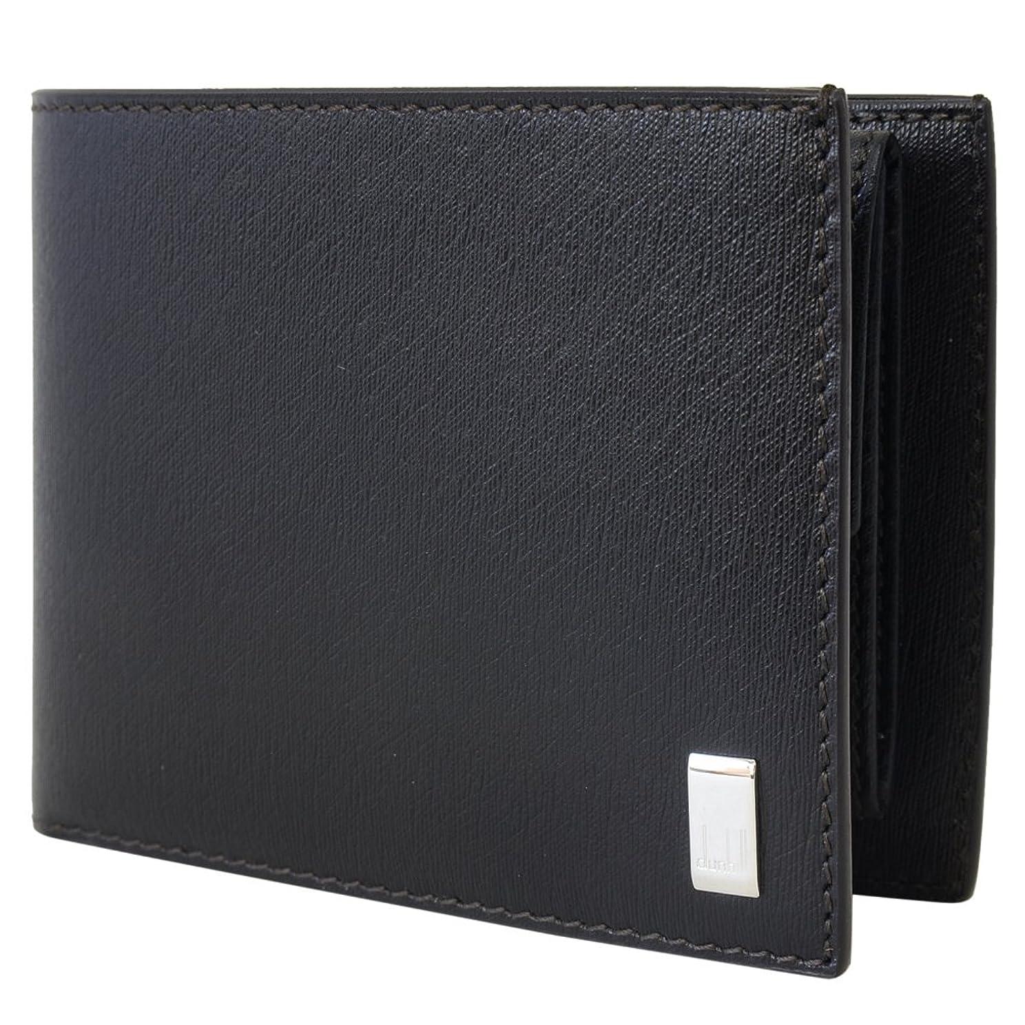 真っ逆さまアトラス密接に[ダンヒル] DUNHILL 財布 FP3070E 二つ折り財布 折りたたみ財布 SIDECAR サイドカー Dark brown ダークブラウン かぶせ蓋 無地 [並行輸入品]