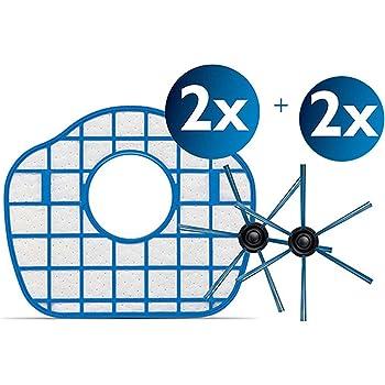 reyee Escape HEPA filtros * 2 + Cepillo Lateral * 2 modelos Robot aspiradora partes de repuesto para PHILIPS FC8710 fc8603: Amazon.es: Hogar