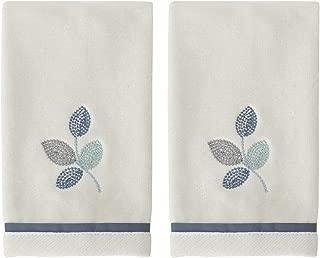 Croscill Mosaic Leaves 2PC Fingertip Towel, Spa