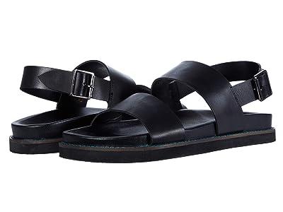WALK London Jackson Sandal (Black Leather) Men