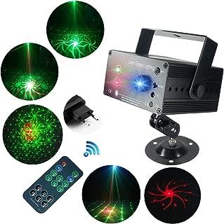 LED Party Lichter, SAHAUHY Party Llicht 3 Quellen Objektiv 48 Muster Bühnenbeleuchtung Sound aktiviert Auto mit Fernbedienung(48 Par Lights)