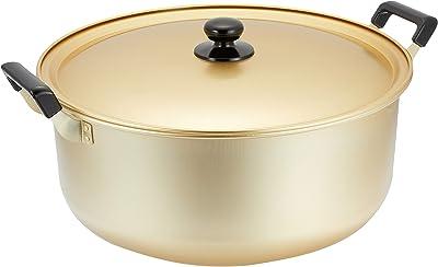 パール金属 大鍋 両手鍋 40cm 鍋蓋付 ガス火専用 アルミ クックオール H-1785