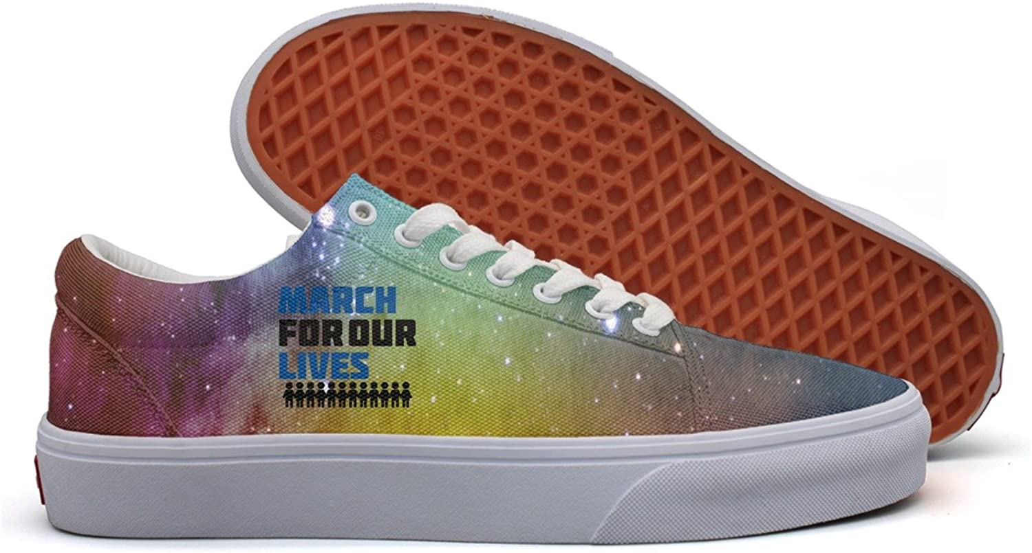 March for our lives accessories Women Breathable Canvas Sneakers