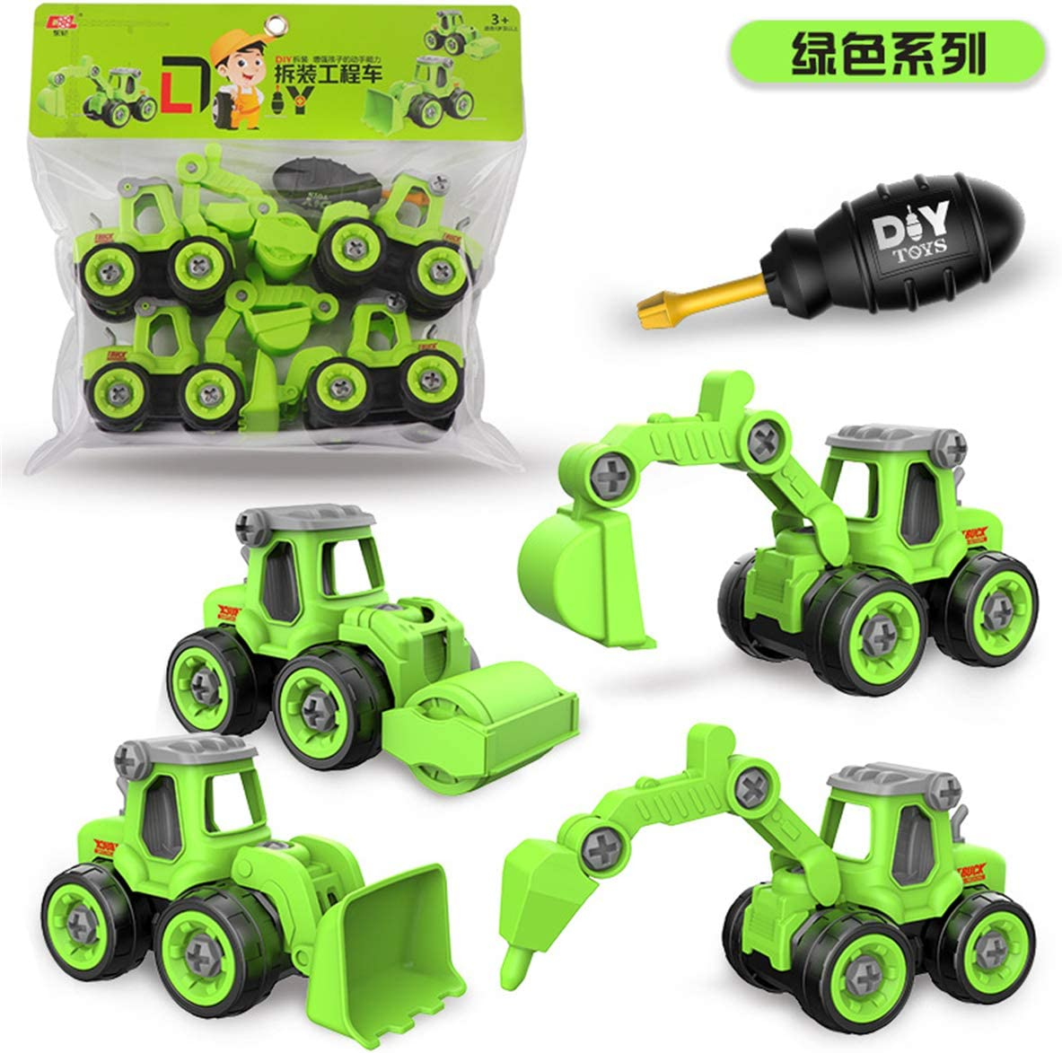 4pcs Construction Toy Engineering 40% OFF Cheap Sale Car and Ultra-Cheap Deals Fire Screw Build Truck