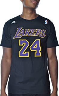 adidas Kobe Bryant Los Angeles Lakers Black/Purple Jersey Name and Number T-Shirt