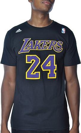 Amazon.com : Los Angeles Lakers Kobe Bryant Gametime Adidas Black ...