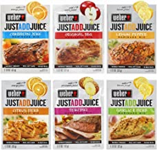 Weber Grill Spices and Seasonings JUST ADD JUICE 1.12 OZ Marinade Mix variety Spices set of 6 Caribbean Jerk Lemon Pepper Garlic & Herb Citrus Herb Teriyaki Original BBQ