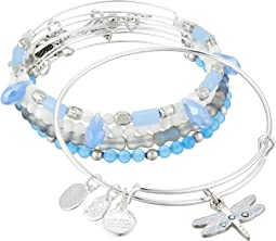 Dragonfly Set of 5 Charm Bangle