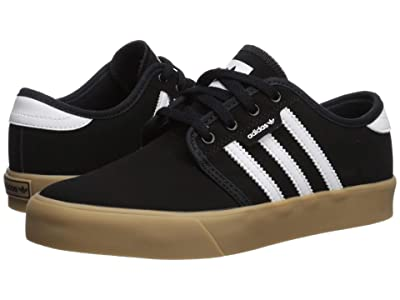 adidas Skateboarding Seeley J (Little Kid/Big Kid) (Core Black/Footwear White/Gum 4) Skate Shoes
