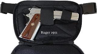 Large - DTOM Concealed Carry Fanny Pack Nylon-Black